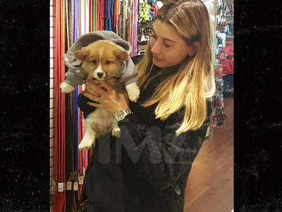 Hailey Baldwin -- My New Travel Puppy Is Chicken ... Or Bunny (PHOTOS)