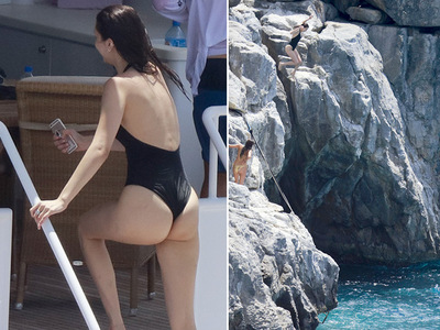 Bella Hadid -- Wedgies In St. Barts! ... Still A Smoke Show (PHOTOS)
