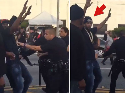 YG and Nipsey Hussle -- Cops Shut Down 'F*** Donald Trump' Video Shoot