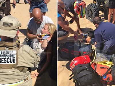 'O.C. Housewives' ATV Crash -- Disaster Scene ... Vicki Gunvalson Was Puking, Went Numb (PHOTOS & VIDEO)