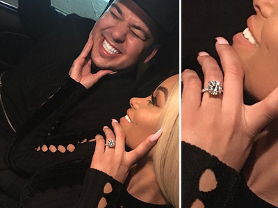 Rob Kardashian and Blac Chyna -- We're Engaged!!! (PHOTOS & VIDEO)