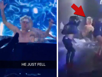 Justin Bieber -- Sorry I Fell During My Concert (VIDEO)