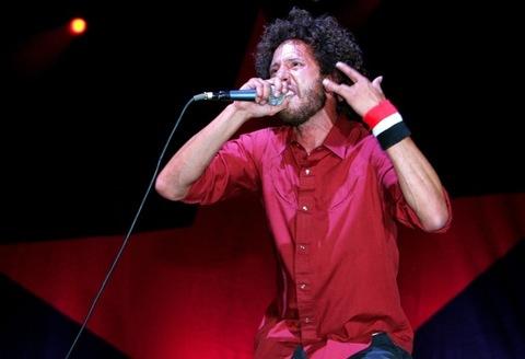 2007: Zack de la Rocha of Rage Against the Machine