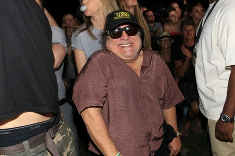 2011: Danny DeVito laughs in the audience during Day 2