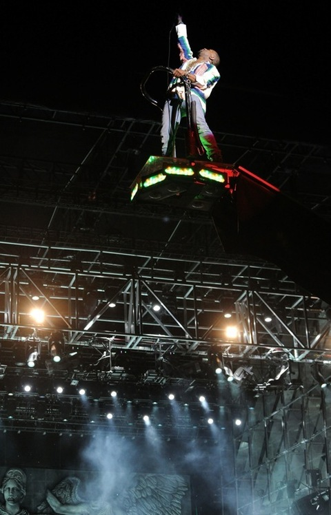 2011: Kanye West performs during Day 3