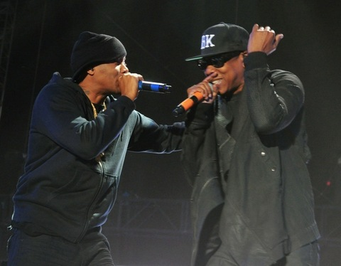 2014: Nas and Jay-Z perform onstage during day 2