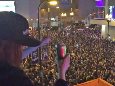 Prince -- Massive 'Purple Rain' Sing Along Shuts Down Streets (VIDEO)