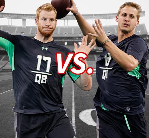 NFL Draft battle: Quarterback Carson Wentz vs. Quarterback Jared Goff
