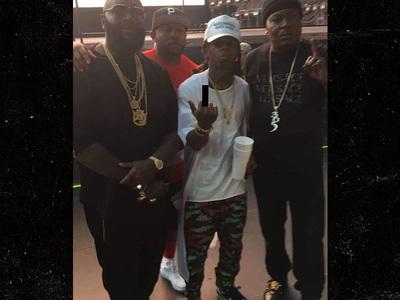 Lil Wayne -- NO 'Respek' ... Chillin' with Birdman's Foes! (PHOTO)