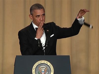 Prez Obama -- Slays at White House Correspondents' Dinner