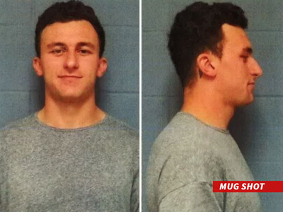 Johnny Manziel -- Smirky Mug Shot ... Booked in Domestic Violence Case  (MUG SHOT)