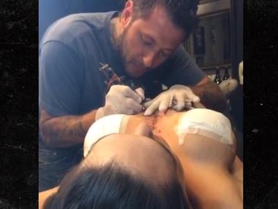 MMA's Gabi Garcia -- Brazilian Boob Cover-up ... For New Tattoo (VIDEO)