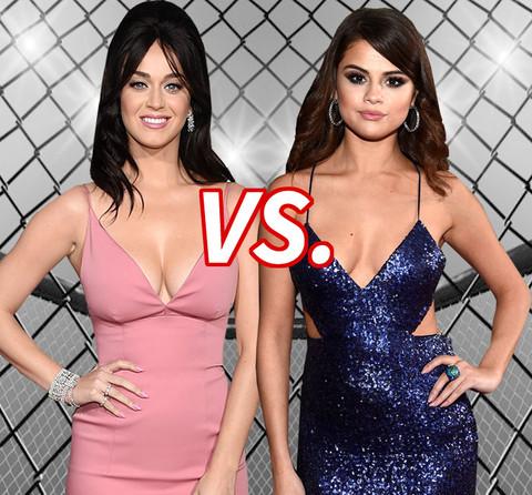 Katy Perry (31) vs. Selena Gomez (23) in the war over Orlando Bloom!