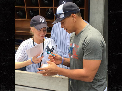 A-Rod -- Boston Strong for Bombing Survivor