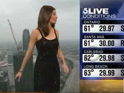 KTLA Weathercaster -- Viewers Outraged at Cover-Up (VIDEO)