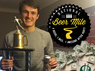 Beer Mile Champ -- Strikes Intoxicating 6-Figure Deal ... Beers On Me!