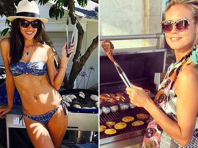Stars Grilling on the 'Gram -- Delicious!