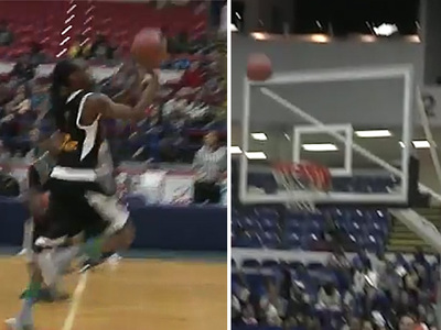 Snoop Dogg -- Hits Half-Court Shot ... at Celeb Hoops Game (VIDEO)