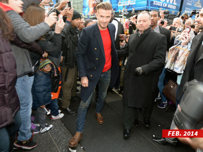 David Beckham -- So Damn Hot, He Got Me Trampled ... Security Guard Sues H&M