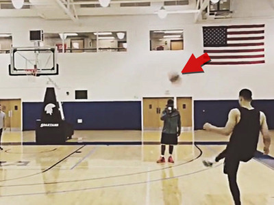 Ben Simmons -- Goes Steph Curry With The Foot ... Hits CRAZY Trick Shot (VIDEO)