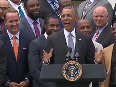 President Obama -- Impersonates Peyton Manning ... 'Omaha! Omaha!' (VIDEO)