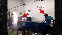 Ndamukong Suh -- DEAD WEIGHT ... For Kevin Hart's Gym Workout (VIDEO)