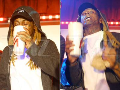 Lil Wayne -- Drinking Massive Amounts of Lean ... Hours Before Seizures (PHOTOS + VIDEO)
