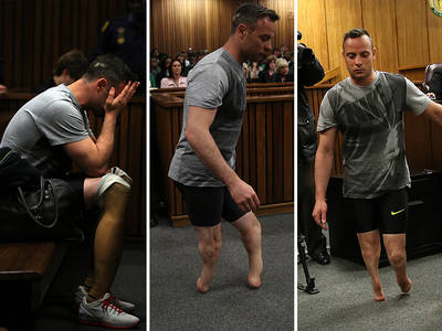 Oscar Pistorius -- Walks On Stumps In Court ... I Deserve Mercy (PHOTOS)