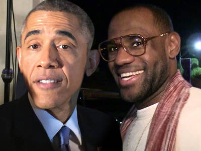 LeBron James -- Props From Obama ... 'Happy for King James'