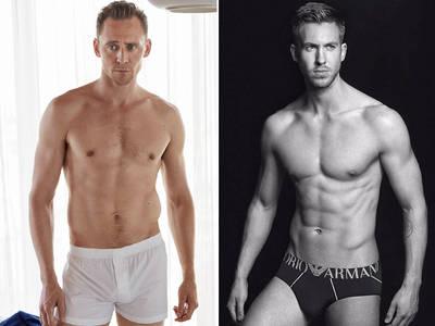 Tom Hiddleston vs. Calvin Harris: Who'd You Rather?! (Sexy Underwear Edition)