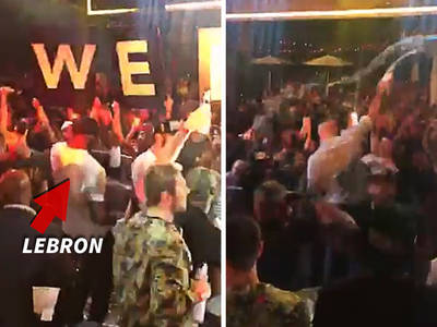 Cleveland Cavs -- Fly to Vegas to Party ... Champagne Nightclub Celebration (VIDEO)