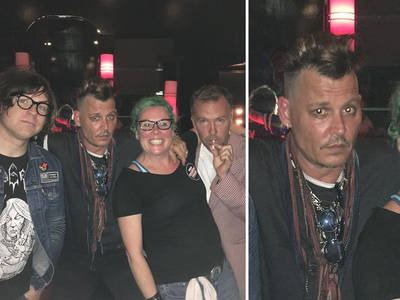 Johnny Depp -- Back in L.A. ... Working the Comedy Circuit (PHOTOS)