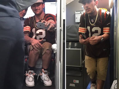 Johnny Manziel -- Runs for the Border ... In Cleveland Browns Jersey (PHOTOS)
