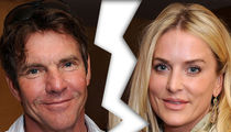 Dennis Quaid -- Wife Files for Divorce ... Again