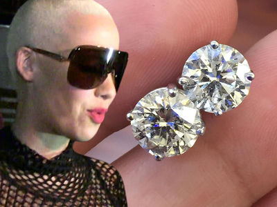 Amber Rose -- I Can't Hear You ... I've Got $20,000 in my Ears!!!