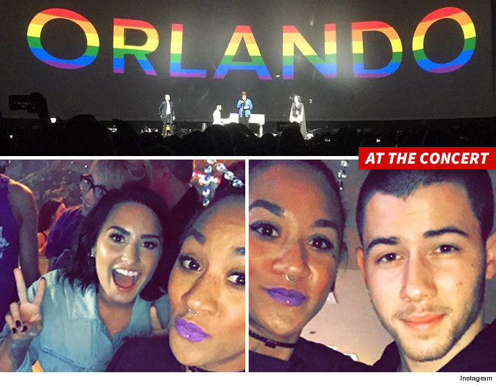 Demi lovato nick jonas orlandos pulse staff gets vip treatment demi and nick paid homage to the nightclub victims as well as christina grimmie m4hsunfo