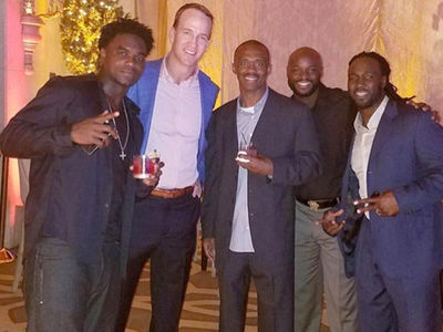 Peyton Manning -- The G.O.A.T. ... at Retirement Parties (PHOTO GALLERY)