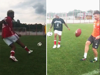 Odell Beckham Jr. -- Bends It Like (David) Beckham ... At Bayern Munich Practice (VIDEO)