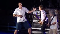 Rob Gronkowski -- AIR GUITAR WITH SIR PAUL ... Live in Concert! (VIDEO)