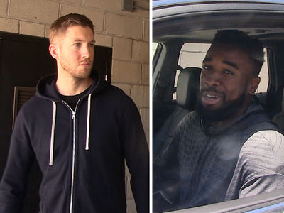 Calvin Harris -- Works Out with NFL Player ... Beast In the Gym (VIDEO)