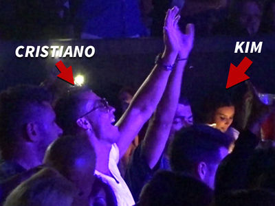 Cristiano Ronaldo -- Dancing Next to Kim Kardashian ... At J Lo Concert (VIDEOS)