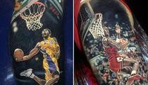 Kobe & Michael Jordan -- INSANE Athlete Tattoos ... From Elite Ink Artist (PHOTO GALLERY)