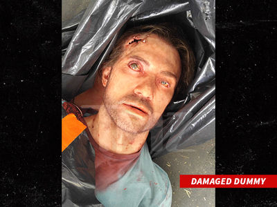 Stunt Dummy -- Spills His Brains Out Before Getting to Work (PHOTOS)