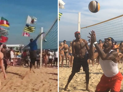 Team USA Basketball -- Attempts Beach Volleyball ... Fails. (VIDEO)
