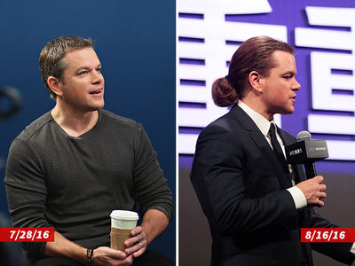Matt Damon -- Where'd All That Hair Come From? (PHOTOS)