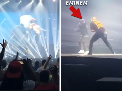 Drake -- Shares Stage with Eminem ... No Dissing, All Love (VIDEOS)