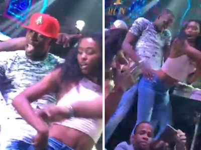 Usain Bolt -- Gold Medal Grinding ... But That Ain't Your GF! (VIDEO)