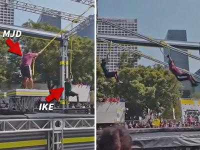 Maurice Jones-Drew & Ike Taylor -- Run 'Ninja Warrior' Course ... Aren't Terrible (VIDEO)