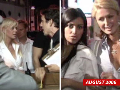 Kim Kardashian & Paris Hilton -- Tara Reid Eating Our Dust at Hyde ... Happy Anniversary! (AWESOME VIDEO)
