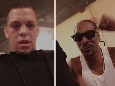UFC's Nate Diaz -- Parties with Snoop ... AND BIGGEST JOINT EVER! (VIDEO & PHOTOS)